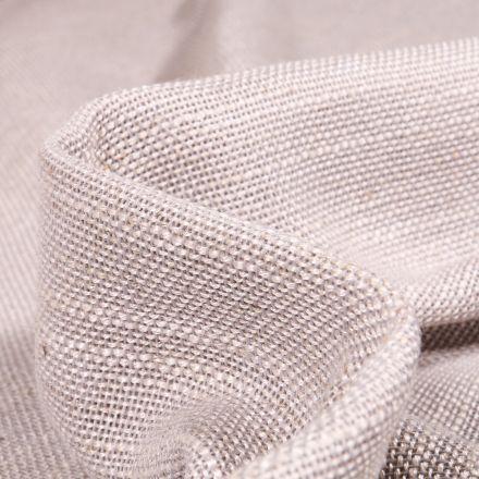 Tissu Toile Casual aspect lin Grande largeur Gris chiné