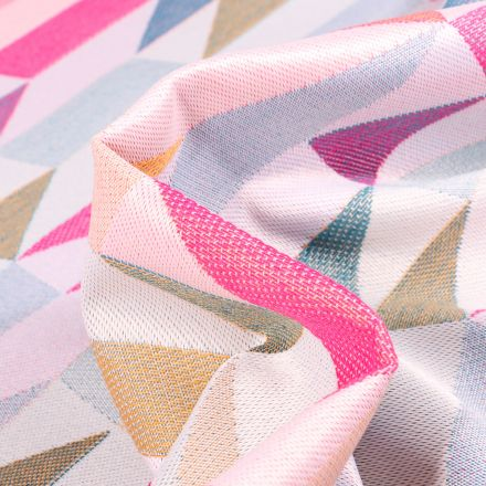 Tissu Jacquard Nash sur fond Multicolore