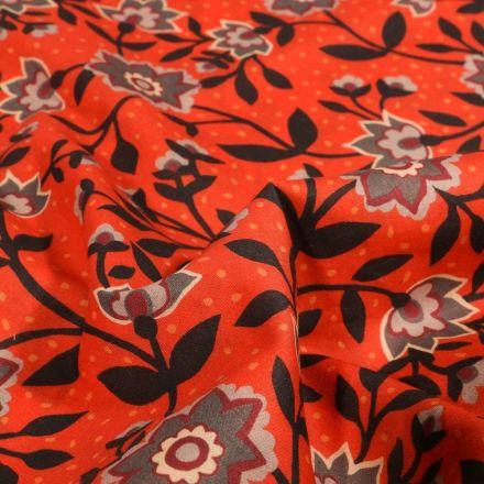 Tissu Liberty of London State room sur fond Orange - Par 10 cm