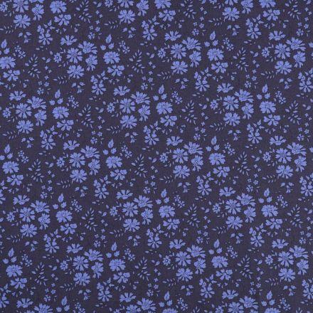 Tissu Liberty of London Capel Bleu marine - Par 10 cm
