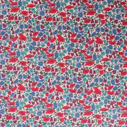 Tissu Liberty of London Poppy Daisy Bleu - Par 10 cm