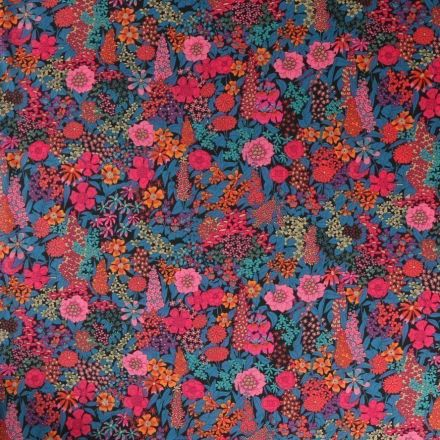 Tissu Liberty of London Ciara Bleu - Par 10 cm