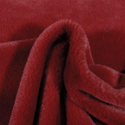 Tissu Fausse fourrure Bear Ultra douce Bordeaux - Par 10 cm