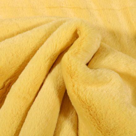 Tissu Fausse fourrure Bear Ultra douce Jaune pastel - Par 10 cm
