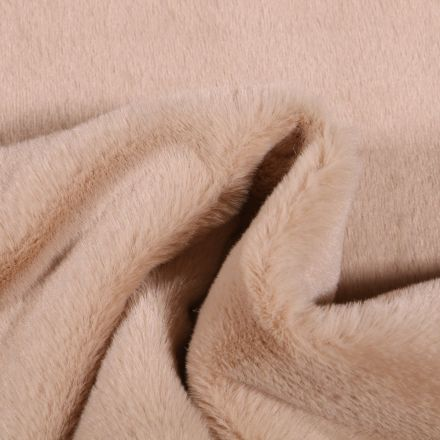 Tissu Fausse fourrure Bear Ultra douce Beige - Par 10 cm
