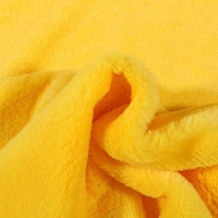 Tissu Fausse fourrure Bear Ultra douce Jaune - Par 10 cm
