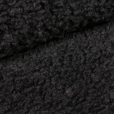 Tissu Fausse fourrure bouclette XL Noir