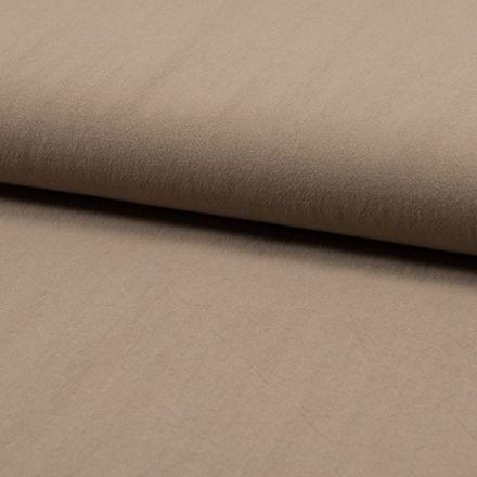Tissu Coton lavé Uni Beige sable - Par 10 cm