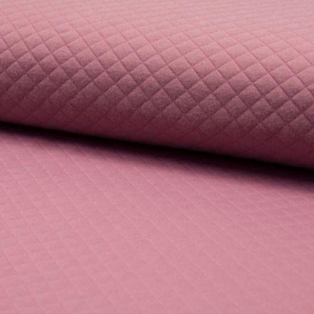 Tissu Sweat léger Matelassé Vieux Rose - Par 10 cm