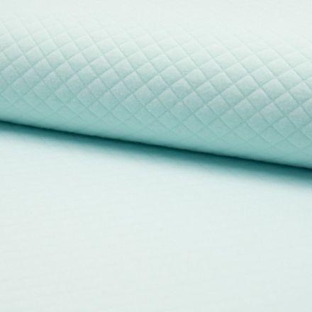 Tissu Sweat léger Matelassé Bleu menthe - Par 10 cm