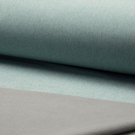 Tissu Softshell envers polaire Bleu menthe - Par 10 cm