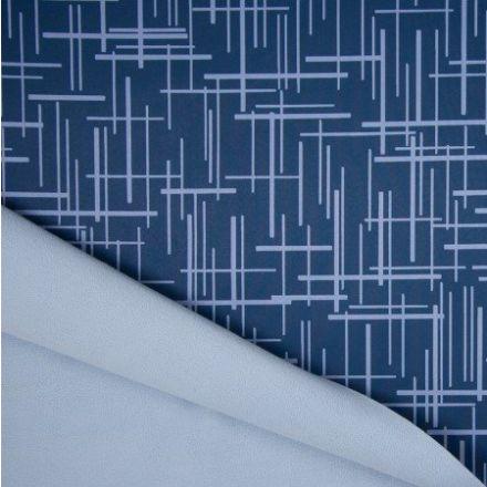 Tissu Softshell envers Polaire Traits Bleu ciel sur fond Bleu - Par 10 cm