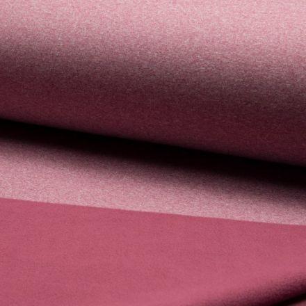 Tissu Softshell chiné envers polaire  Rose - Par 10 cm