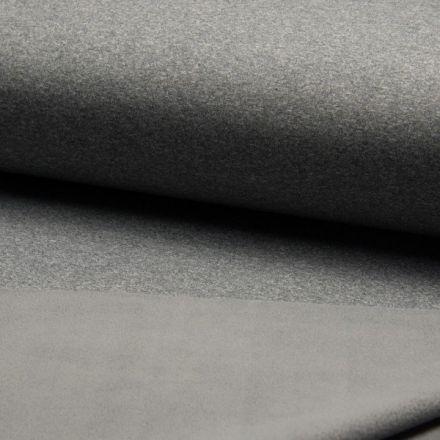 Tissu Softshell chiné envers polaire  Gris clair - Par 10 cm
