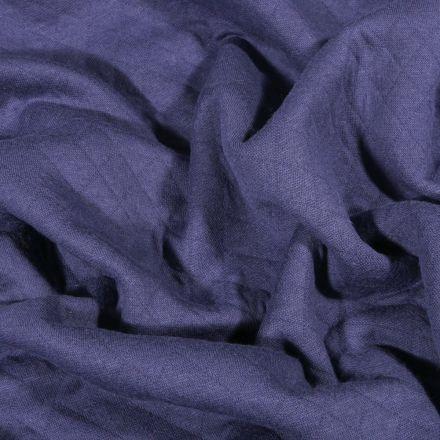 Tissu Sweat léger matelassé Talia Bleu denim - Par 10 cm