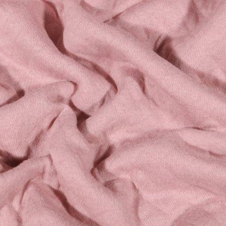 Tissu Sweat léger matelassé Talia Rose nude - Par 10 cm