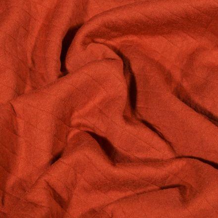 Tissu Sweat léger matelassé Talia Rouille - Par 10 cm