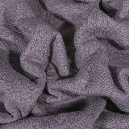 Tissu Sweat léger matelassé Talia Gris - Par 10 cm