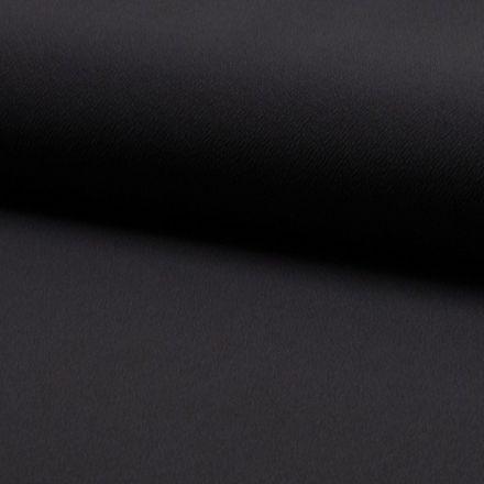 Tissu Jersey crêpe uni Gris anthracite - Par 10 cm