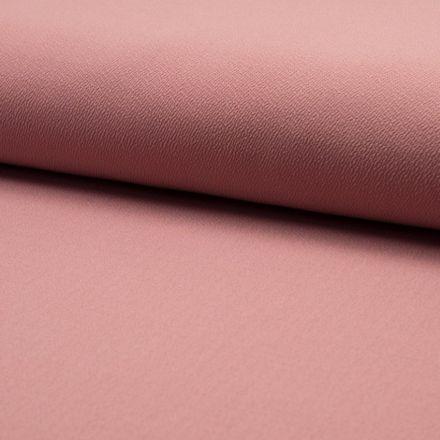 Tissu Jersey crêpe uni Vieux rose - Par 10 cm