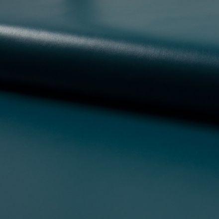 Tissu Simili Cuir Souple Bleu pétrole - Par 10 cm