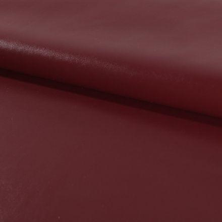 Tissu Simili cuir souple Rouge Bordeaux x10cm
