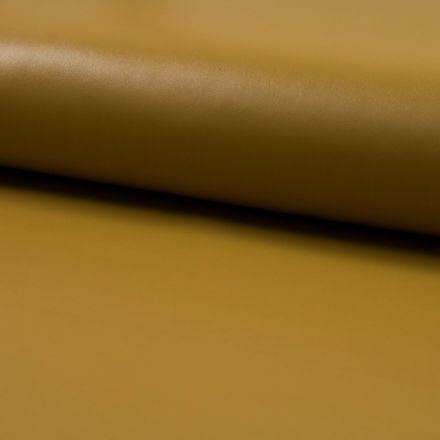 Tissu Simili Cuir Souple Ocre - Par 10 cm