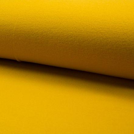 Tissu Drap de manteau Jaune Moutarde - Par 10 cm