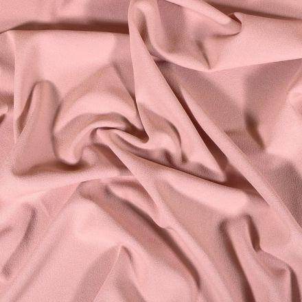 Tissu Crêpe Scuba Uni Rose dragée - Par 10 cm