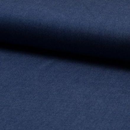 Tissu Chambray Tencel Bleu jean foncé - Par 10 cm