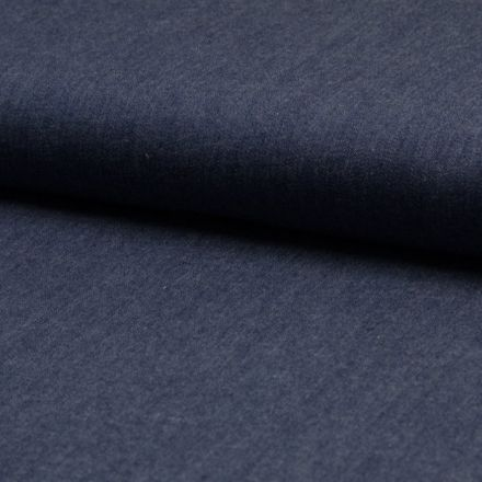 Tissu Chambray Coton Craftine Bleu marine - Par 10 cm