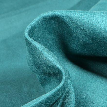 Tissu Suédine Scuba uni Capri Bleu pétrole