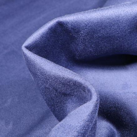 Tissu Suédine Scuba uni Capri Bleu nuit