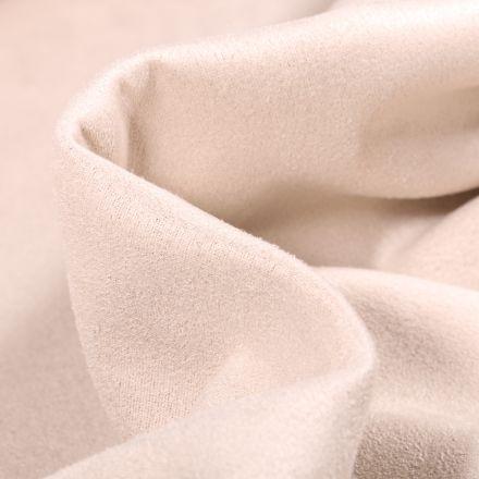Tissu Suédine Scuba uni Capri Beige sable