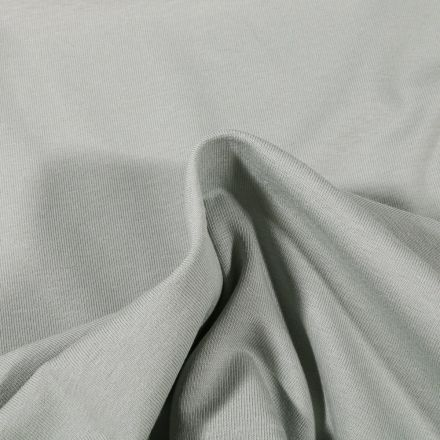 Tissu Jersey Coton Bio uni Vert amande - Par 10 cm