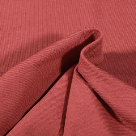 Tissu Jersey Coton Bio uni Bois de rose - Par 10 cm
