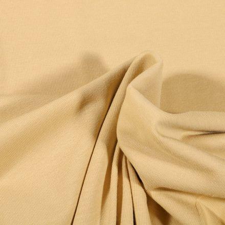 Tissu Jersey Coton Bio uni Jaune pastel - Par 10 cm