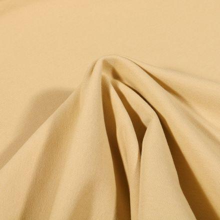 Tissu Jersey coton envers gratté Bio Uni  Jaune pastel - Par 10 cm
