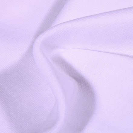 Tissu Bord côte uni Bio Blanc - Par 10 cm