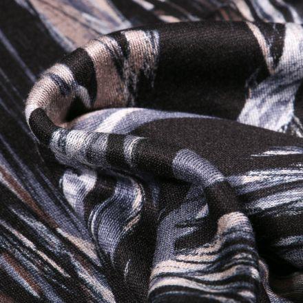Tissu Jersey milano Motifs abstraits sur fond Gris