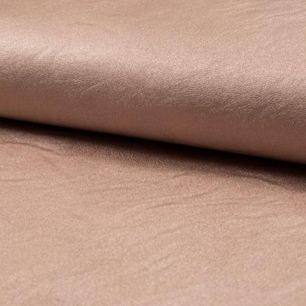 Tissu Simili Cuir Stretch nacré Rose poudré - Par 10 cm