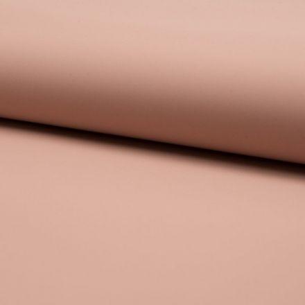 Tissu Simili cuir souple uni mat Rose poudré - Par 10 cm
