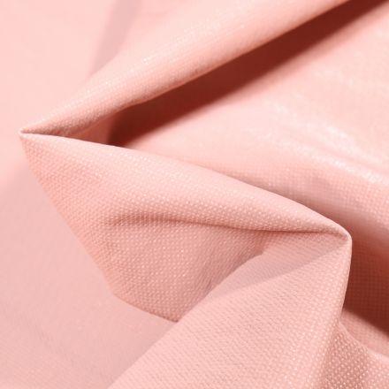 Tissu Simili cuir d'habillement Petits points brillants sur fond Rose pâle