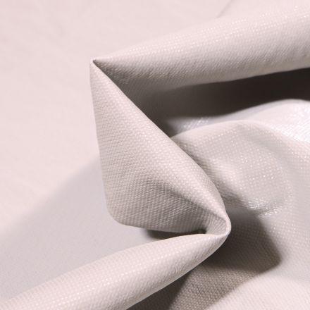 Tissu Simili cuir d'habillement Petits points brillants sur fond Gris