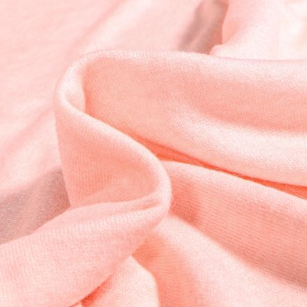 Tissu Maille viscose extensible Angel Rose poudré