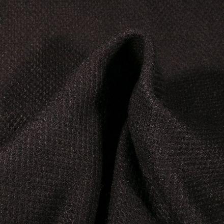 Tissu Maille polyviscose piqué Noir - Par 10 cm