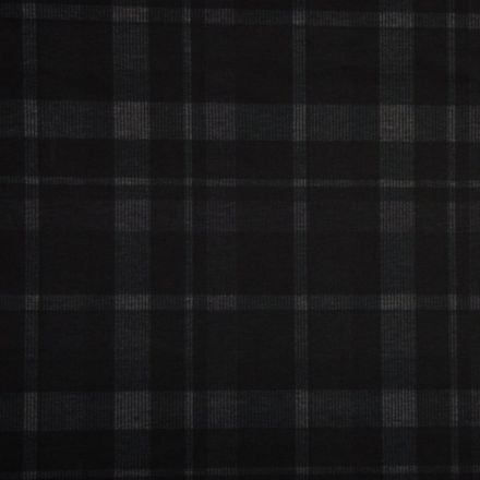 Tissu Milano Carreaux Gris sur fond Noir - Par 10 cm