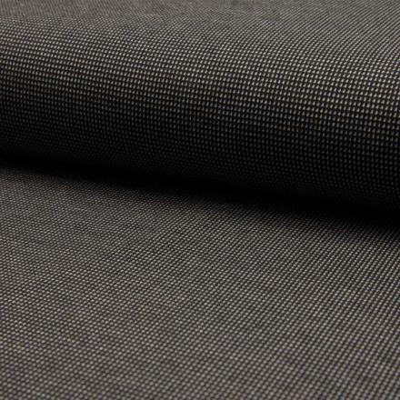 Tissu Jacquard polyviscose  extensible Pointillés blancs sur fond Noir - Par 10 cm