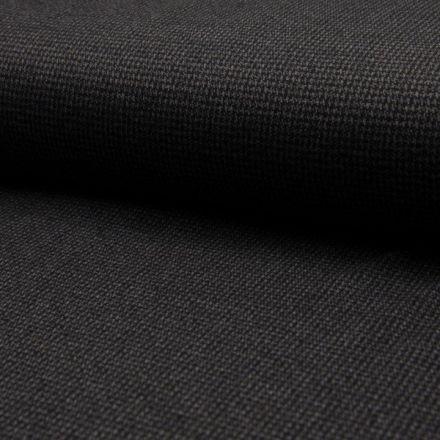 Tissu Jacquard polyviscose  extensible Pied de poule Gris sur fond Noir - Par 10 cm