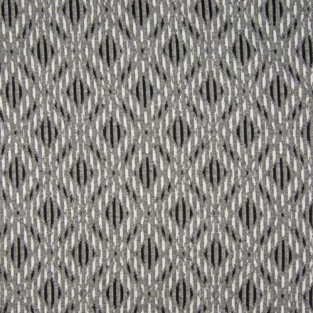 Tissu Jersey Jacquard  Losanges sur fond Gris - Par 10 cm